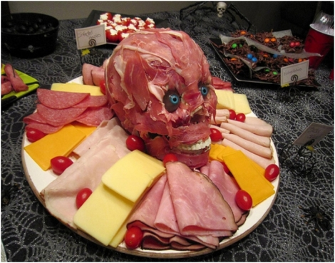 Gory food platter for Halloween parties...lol